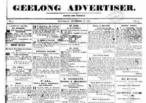 A report on the coroner's hearing into the death of James Long Snr was published in the Geelong Advertiser on December 16, 1857.