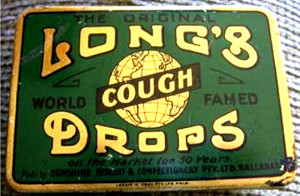 Long's Cough Drops. Part of the Ash Long Collection.