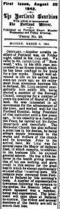 Portland Guardian. March 6, 1916.