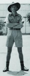 Jim Long in barracks