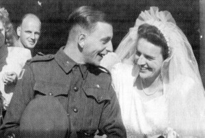 Jim Long and Marjory Lawrence married at Croxton Park Methodist Church on February 24, 1945.